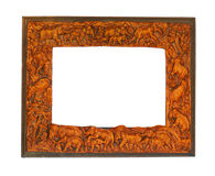 Antique frame with elephants Stock Photography
