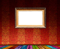 Antique Frame in Empty Room Royalty Free Stock Image