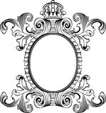 Antique Frame Engraving Stock Image