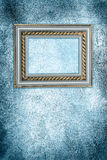 Antique frame on a frozen wall Royalty Free Stock Photos