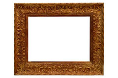 antique frame gold picture Arkivbilder