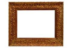 antique frame gold picture arkivbilder