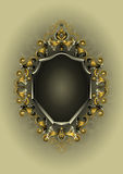 Antique frame with gold and silver decor Royalty Free Stock Image