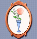 Antique frame illustration Royalty Free Stock Photo