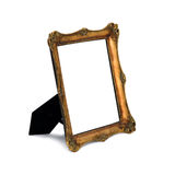 Antique frame.  image. Antique frame with woman's portrait .  image Stock Image