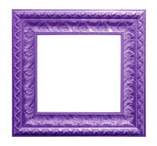 Antique frame isolated on black background Royalty Free Stock Images