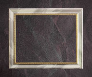 Antique frame isolated on Dark grey black slate background or texture. Royalty Free Stock Photography