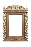 Antique  frame isolated. On  white background Stock Images