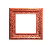 Antique frame isolated on white Royalty Free Stock Images
