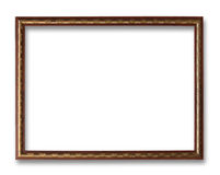 Antique Frame Isolated On White Background Royalty Free Stock Images