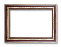 Antique Frame Isolated On White Background Stock Images