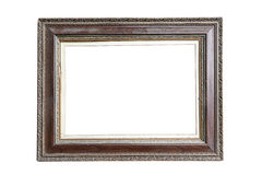 Antique frame isolated on white background Royalty Free Stock Photos