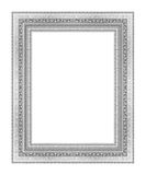 The antique frame isolated on white background Stock Image