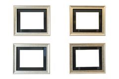 Antique frame isolated on white wall royalty free stock photos