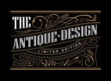 Antique frame label western hand drawn border typography. Engraving vintage retro vector illustration Stock Image