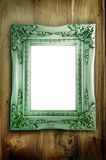 Antique Frame On Wood Stock Photography