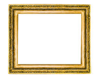 Antique frame for a picture. Isolation Royalty Free Stock Photos