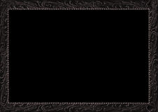 Antique Frame Surrounding Black Background Royalty Free Stock Photo