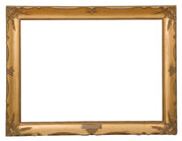 Antique frame is very old with cracks and uneven isolated on white background, with Clipping Paths Stock Photography