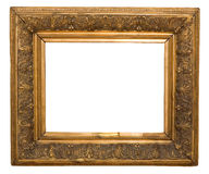 Antique frame is very old with cracks and uneven isolated on white background, with Clipping Paths Royalty Free Stock Photography
