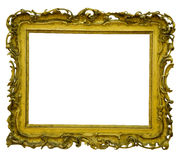 Antique frame is very old with cracks and uneven isolated on white background, with Clipping Paths Royalty Free Stock Images