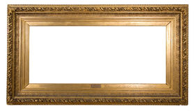 Antique frame is very old with cracks and uneven isolated on white background, with Clipping Paths Stock Photo