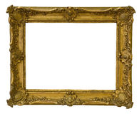 Antique frame is very old with cracks and uneven isolated on white background, with Clipping Paths Royalty Free Stock Photo