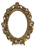 Antique frame on the white background Royalty Free Stock Photos