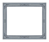 The antique frame on the white Stock Image
