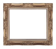 antique frame on white background, clipping path Stock Images
