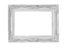 antique  frame on the white background with clipping path Royalty Free Stock Photo