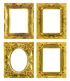The antique frame on the white background Royalty Free Stock Photography