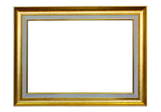 The antique frame on the white background Royalty Free Stock Images