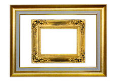 The antique frame on the white background Royalty Free Stock Photos