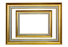 The antique frame on the white background Stock Image