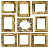 The antique frame on the white background Royalty Free Stock Image