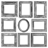 The antique frame on the white background Stock Photography
