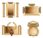 Antique Frames. Antique themed frames with olive branch and Greek vase Stock Images