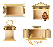 Antique Frames. Antique themed frames with olive branch and Greek vase Royalty Free Stock Photo