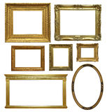 Antique  Frames. Old antique picture frames isolated on a white background Stock Photo