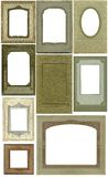 Antique frames -- nine! Stock Photography