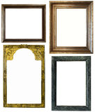Antique frames on the white background Royalty Free Stock Image