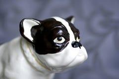 Antique french bulldog statue 2. Royalty Free Stock Photos