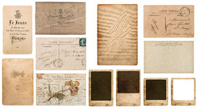 Antique french carte de visite. vintage business card Royalty Free Stock Photography
