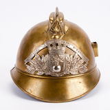 Antique French Fire Helmet Stock Photography