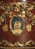 Versailles, France - 10 August 2014 : wood furniture ornaments at Versailles Palace ( Chateau de Versailles ) Royalty Free Stock Photo