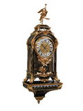 Antique French Gilt Bronze Boulle Clock on white background Royalty Free Stock Image
