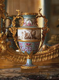 Versailles, France - 10 August 2014 : Painted vase at Versailles Palace ( Chateau de Versailles ). It was added to the UNESCO list of World Heritage Sites royalty free stock image