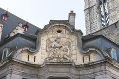 Antique fresco of the Mammelokker at side of Belfry in Ghent. Stock Photography