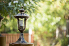 Antique frosty lamppost, Vintage lampot. The Antique frosty lamppost, Vintage lampot Royalty Free Stock Photography